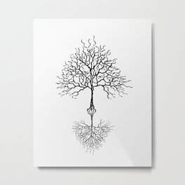 Tree of life meaning white Metal Print