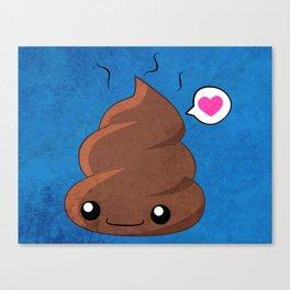 Poop Love Canvas Print