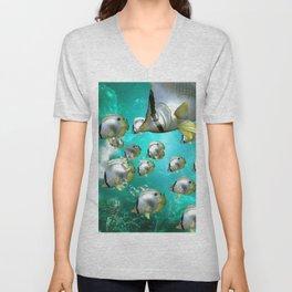 Wonderful butterflyfish  Unisex V-Neck