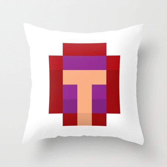 hero pixel purple red Throw Pillow