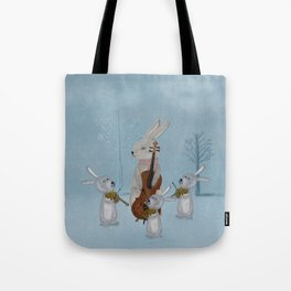 the bunny quartet Tote Bag