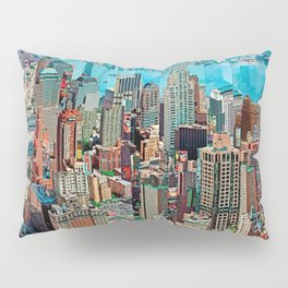 Stressless - New York City Skyline - Empire State Building Photograph on Canvas by Serge Mendjisky Pillow Sham