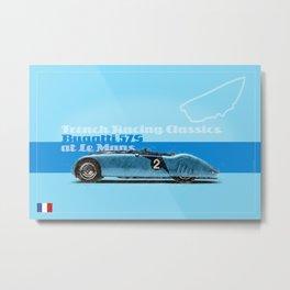 Le Mans Bugatt 57G Metal Print