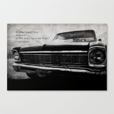 Shiny Car in the Night Canvas Print