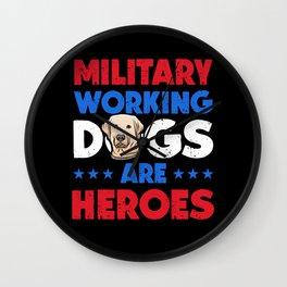 Labrador Retriever Military Working Dog Heroes Wall Clock