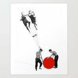 US AND THEM >dedicated to László Moholy-Nagy / 038 Art Print