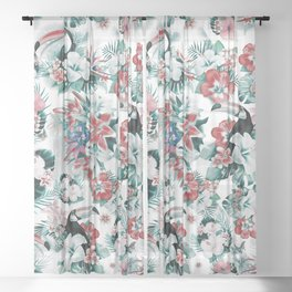 Tropical Forest Sheer Curtain