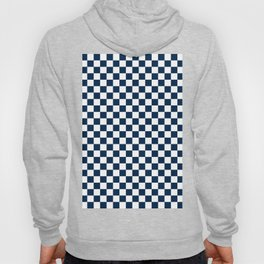 Small Checkered - White and Oxford Blue Hoody