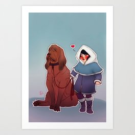 I love you, woof! Art Print