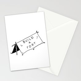 Build a fort Stationery Cards