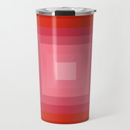 Buggin' Out - retro 70s throwback minimal art 1970s style abstract colorful Travel Mug