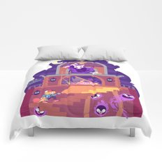 Tiny Worlds - Lavender Town Tower Comforters