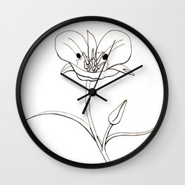 Mariposa Lily Wall Clock