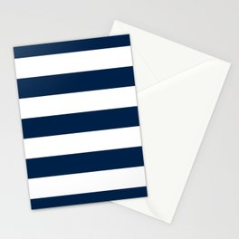 Navy Stripes | Digital Design | Pattern Stationery Cards