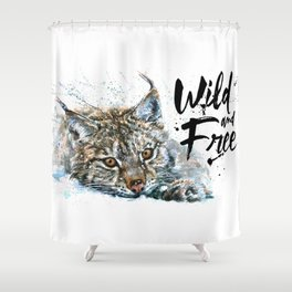 Lynx Wild and Free Shower Curtain