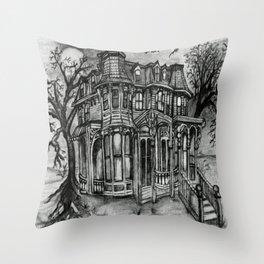 Old Victorian Queen Throw Pillow