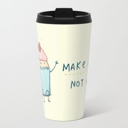 Make Cake Not War Travel Mug