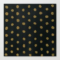 gold dots Canvas Prints featuring GOLD DOTS by natalie sales