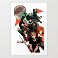 mortal instruments Art Prints featuring The Mortal Instruments by The Radioactive Peach