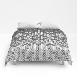 Winter knitted pattern 8 Comforters