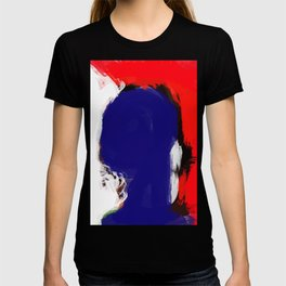 Abstract Blue White and Red Painting Minimalist T-shirt
