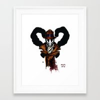 rorschach Framed Art Prints featuring Rorschach by The Aortic Inkwell