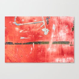 Etched Scratchings of a Mad Red Monk Canvas Print
