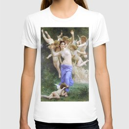 The Invasion (The Wasp's Nest) Le Guêpier by William-Adolphe Bouguereau T-shirt