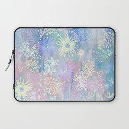 Eden Floral Pastel Blue Laptop Sleeve