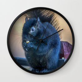 Black Squirrel Wall Clock