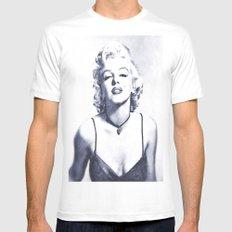 Marilyn Monroe 2 Mens Fitted Tee White MEDIUM
