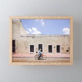 Riding a Bike in Merida, Mexico Framed Mini Art Print