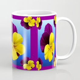Decorative Shaded Blur Yellow-Purple Violas Art Coffee Mug