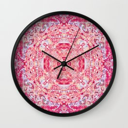 Boujee Boho Rose Tapestry Print Wall Clock