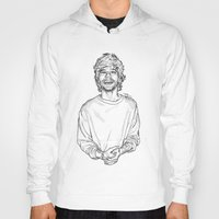 louis tomlinson Hoodies featuring Louis Tomlinson  by Cécile Pellerin