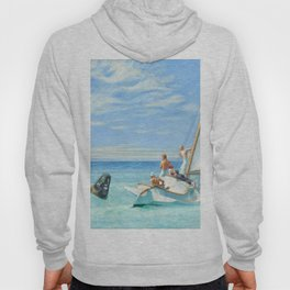 Ground Swell OIl Painting by Edward Hopper Hoody