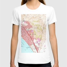 Vintage Map of San Clemente California (1968) T-shirt