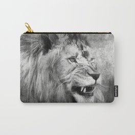 Grunge Snarling Lion Carry-All Pouch