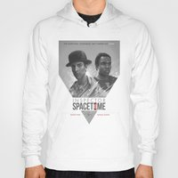 doctor Hoodies featuring Inspector Spacetime  by Sam Spratt