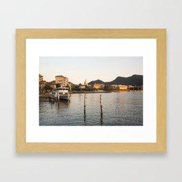 Lake Como at Sunset Framed Art Print