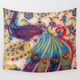 Vintage Silk Wall Tapestry