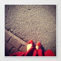 feet Canvas Prints featuring Feet by Bloody-Gami