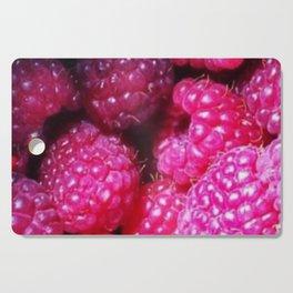 Summer with Raspberries Cutting Board