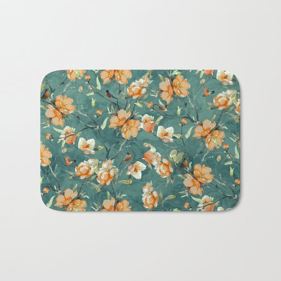 Flowers & Birds Bath Mat