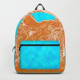 Las Palmas de Gran Canaria, Spain, Gold, Blue, City, Map Backpack