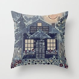 Summer night 1 Throw Pillow