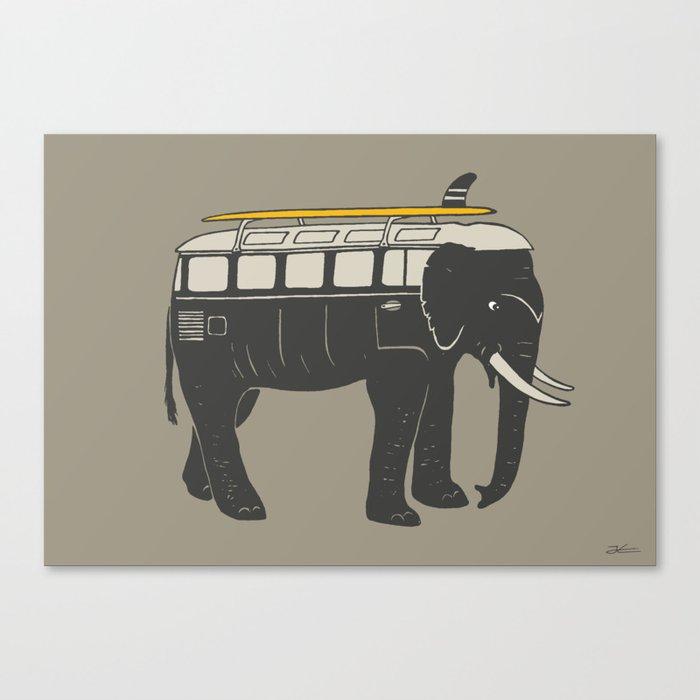 ElephantMobile Canvas Print