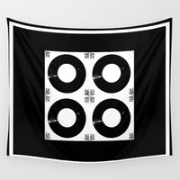 records Wall Tapestries featuring Records by Derek Delacroix