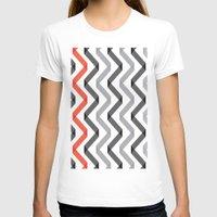 scandinavian T-shirts featuring Geometric Minimalist Pattern Scandinavian Design by Nordic Print Studio