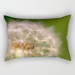 Snowglobe - Macro Photograph of Dandelion Rectangular Pillow